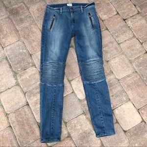 Hudson super skinny stark Moto jeans 29